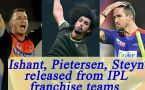 IPL 2017: Ishant Sharma, Pietersen, Steyn, and others released from their teams