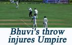 India vs England : Bhuvneshwar Kumar's throw hits Umpire Paul Reiffel on head