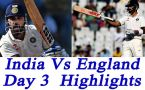India vs England 4th Test, 3rd day Highlights : Virat Kohli shines through