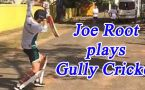 Joe Root plays cricket 'Gully' style in cyclone hit Chennai