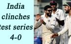 India beats England in Chennai test, clinches series 4-0