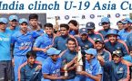 India beat Sri Lanka to clinch U-19 Asia Cup title