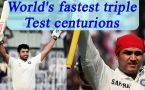 Top five fastest triple centurions in the Test world