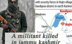 Kashmir: Militant killed in encounter with security forces in Bandipora district