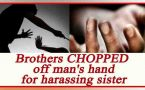 Uttar Pradesh: Brothers chop off man's hand for harassing their sister