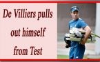 AB de Villiers ruled out himself from Test matches