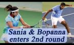 Sania Mirza and Rohan Bopanna enters second round of Australian Open 2017