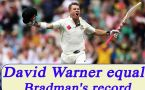 David Warner hits century in opening session of Test Match, second Australian to do so