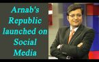 Arnab Goswami launches the Republic's official Twitter and Facebook