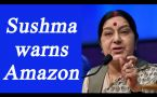 Sushma Swaraj demands apology from Amazon for selling doormats with Indian flag