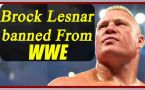 Brock Lesnar banned from WWE