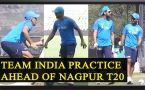 Virat Kohli, MS Dhoni, Yuvraj Singh practice in Nagpur ahead of 2nd T20, Watch Video