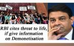 Demonetisation: RBI refuses to give information, cites threat to life
