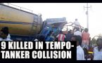 Karnataka tempotanker collision claims 9 lives : Watch video