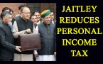 Budget 2017: Reduces personal income tax rate by 5 per cent: Jaitley