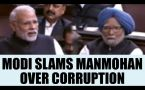 PM Modi taunts Manmohan Singh in RS over corruption, Congress walkout