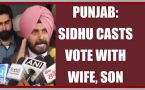 Punjab elections 2017: Sidhu casts vote with wife and son