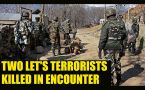Jammu & Kashmir:  Two LeT terrorists neutralized, operation continues: Watch video