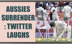 India vs Australia 4th Test: Aussies surrender in second innings; Twitter makes fun