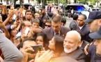 PM Modi in Spain: People chant Modi, Modi outside hotel