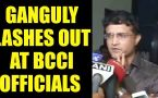 Saurav Ganguly slams BCCI officials over Virat kumble row