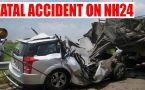 NH 24 accident: Truck rams into Innova killing 5 on the spot
