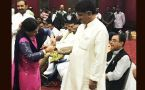 Rakshabandhan celebration: Gujarat Congress MLAs tie rakhi to Shivakumar