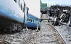 Shaktipunj Express derails near Obara Railway Station in UP