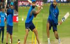 Virat Kohli, MS Dhoni bat with left hand in Hyderabad