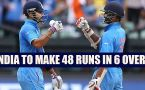 India vs Australia 1st T20I : Host need 48 runs to win in 6 overs