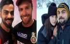 AB de Villiers sends best wishes to Virushka and also many kids to come , Watch
