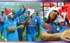 MS Dhoni turned santa clause for Team India after winning 3rd T20I at Wankhede Stadium