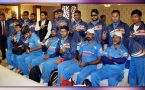 Indian blind cricket team arrives back home after winning world cup in Sharjah