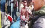 UP cop beats two men brutally on road, Watch shocking video