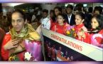 Saina Nehwal, PV Sindhu receive grand welcome at Airport after returning from CWG