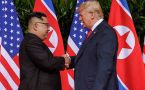 US President Donald Trump and North Korean leader Kim Jong Un meet for historic meeting