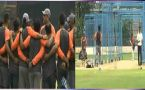Indian cricket team practice in the nets ahead of one-off Test against Afghanistan