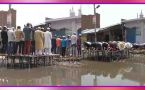 Muslims offer namaz in middle of muddy water in Uttar Pradesh