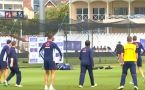 India vs England : England Team sweats it out, Practice Session ahead 1st ODI