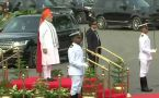 PM Modi inspects the Guard of Honour at Red Fort on Independence Day