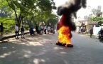 Assam shutdown: Many shops closed, protestors burn tyres to protest Citizenship bill