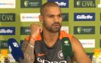 India VS Australia 1st T20: Shikhar Dhawan Blames this thing for defeat