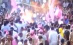 Gas balloon blast in KTR's roadshow in Hyderabad, CCTV Footage