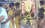 Hindu devotees whip themselves with ropes to please rain goddess in Coimbatore