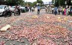 Farmers dump onion produce as prices fell in Nashik