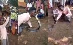 Viral Video : Man Catching Snake shocks everyone