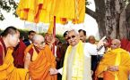 Nitish Kumar meets Dalai Lama at Mahabodhi Temple in Bodh Gaya
