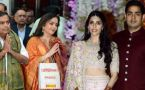 Mukesh Ambani, Nita Ambani offers Son Akash Ambani's Wedding Card at Siddhivinayak