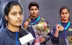 Manu Bhaker after clinching mixed team gold at shooting world cup