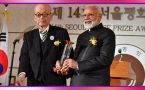 PM Modi gets Seoul Peace Prize in South Korea, gives money to Namami Gange fund